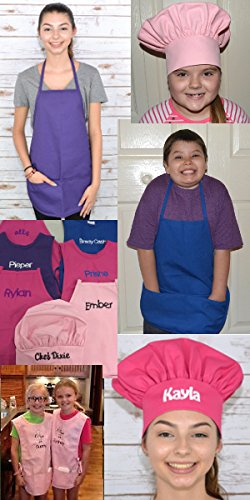 Purple Kids Art Smock, Apron, Extra Large, Poly/Cotton Twill Fabric by My Little Doc (Image #3)