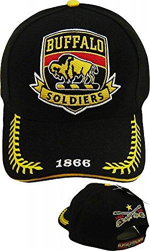 Big Boy Buffalo Soldiers Commemorative S8 Mens Cap [Black - Adjustable]