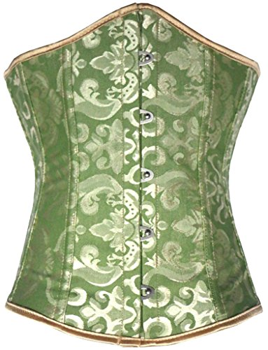Alivila.Y Fashion Womens Brocade Underbust Corset 2686-Green-5XL