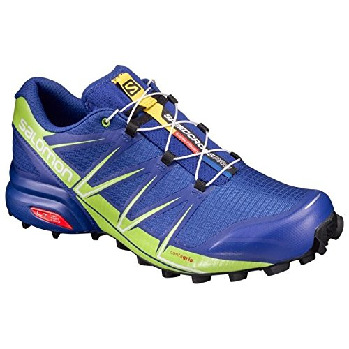Salomon Shoes Speedcross PRO, Surf the Web/Liime Green/Black, 8, L39238900-8 by Salomon