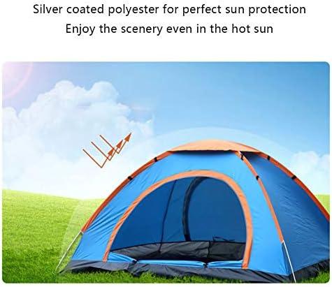 Pop Up Tent Waterdicht & Winddicht Dubbele Laagtent 3-4 Persoonstent Voor Kamperen in De Tuin, Lichtgewicht Kamperen En Wandelende Tent,Green