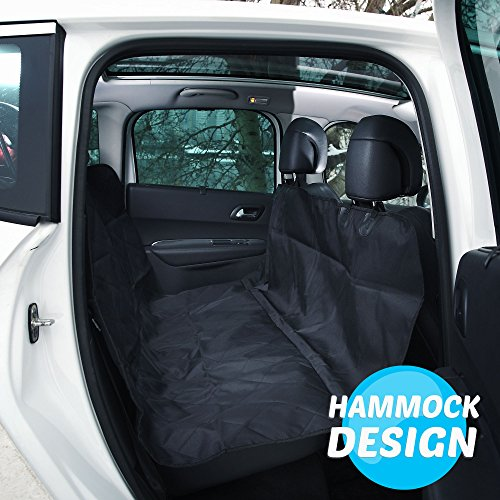 Beloved Pets Seat Cover For Dogs   Cats   Waterproof  Non Slip  Machine Washable Cover   Hammock   Protects Back Seat From Hair   Dirt   For All Size Dogs   Trucks