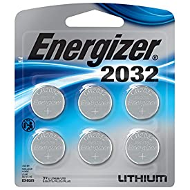 Energizer CR2032 Batteries, 3v Lithium 2032 Watch Battery, (6 Count)