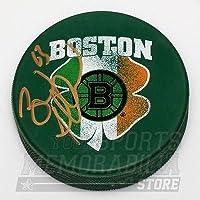 $59 » Brad Marchand Boston Bruins Signed Autographed St. Patrick's Irish Flag Puck