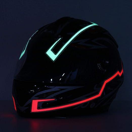 Striscia luminosa a LED per casco da motocicletta Kungfu Mall