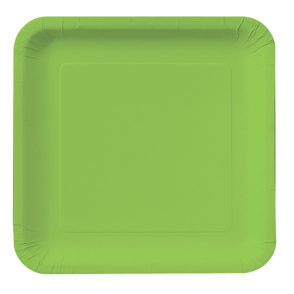 Amazon.com Creative Converting Touch of Color 18 Count Square Paper Lunch Plates Fresh Lime Home \u0026 Kitchen  sc 1 st  Amazon.com & Amazon.com: Creative Converting Touch of Color 18 Count Square ...