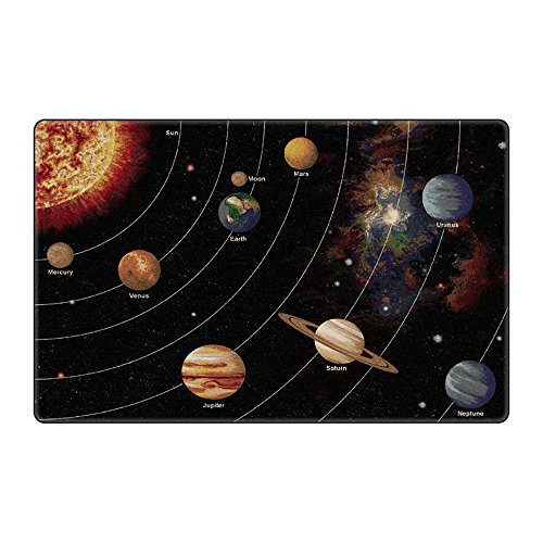 Flagship Carpet Children Learning Floor Playmat Nylon Solar System Orbit (Tranquility) - 7'6'''' x 12' Toys Christmas Gift by Flagship Carpets
