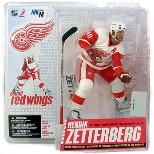 NHL McFarlane Toys Sports Picks Series 14 Action Figure Henrik Zetterberg (Detroit Red Wings) White Jersey