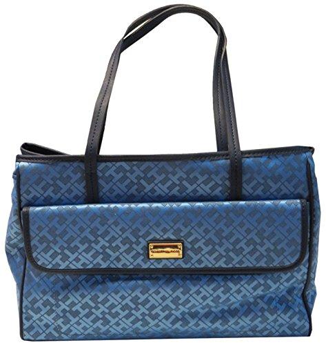 Tommy Hilfiger Purse Handbag Signature Shopper II Tote Blue