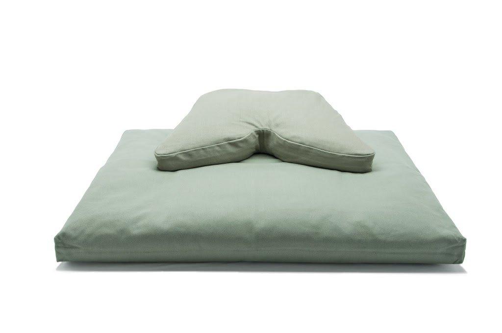 Kapokまたはそば殻Fill Regular Lift Cosmicクッション&コットン中綿座布団瞑想クッションヨガ枕2 pcセット Buckwheat Cosmic Cushion セージ B00BXOT9GS