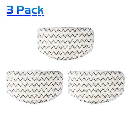 X Home Washable Microfiber Steam Mop Pads for Bissell Powerfresh Steam Mop 1940W 1940 19404, Deluxe 1806, Lift-Off Pet 1544, Slim 2075, 1440 Series, Part 5938 Hard Floor Steam Cleaner Mop Pads (3pcs)