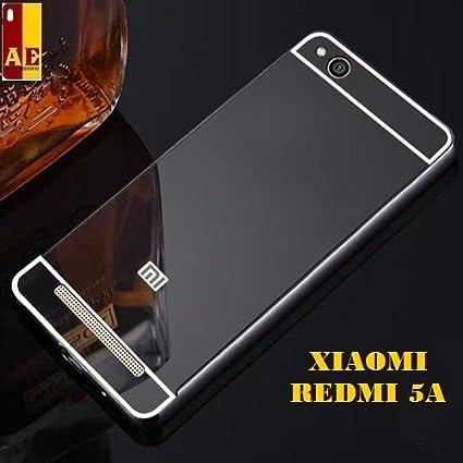 quality design 24d14 42ec2 AE Mobile Accessories Luxury Metal Bumper + Acrylic Mirror Back Cover Case  For XIAOMI REDMI 5A GREY