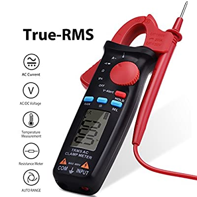 Clamp Meter FraFong Digital True-RMS 2000 Counts NCV Meter Auto-Ranging Multimeter with AC Current AC/DC Volt Ohm Diode and Resistance Test