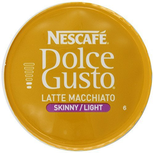 (Nescafe Dolce Gusto Skinny Latte Macchiato, 16 Count (Pack of 3) by Dolce Gusto)