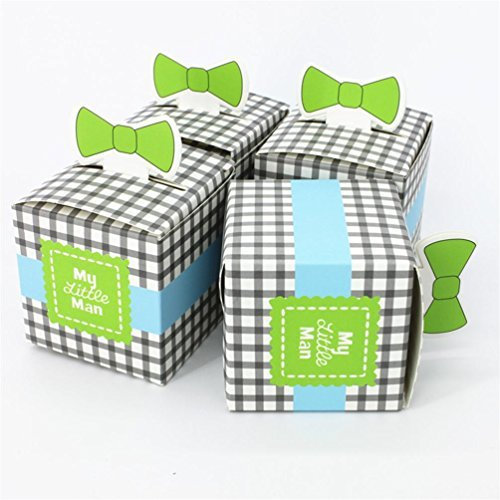 Wedding Candy Box-new Arrival My Little Man Favor Box Wedding Favor Box Party Favor Candy (Chocolate) Box(pack of 50) Man Party Favor Box