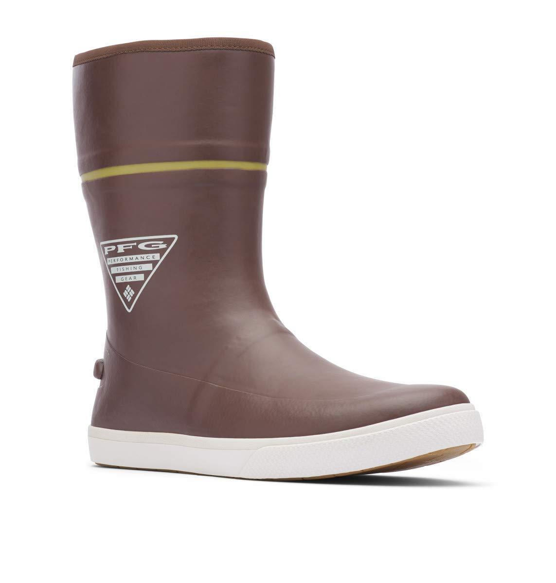 Columbia PFG Men's Dorado LITUP 10 PFG Rain Boot, Tobacco/Peppercorn, Regular US by Columbia
