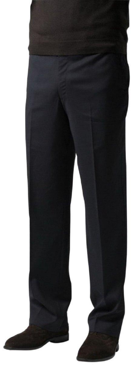 Knightsbridge Comfort Stretch Blend Wool Mens Dress Pants - Flat Front Brown 34