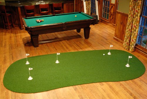 Jets Putting Green - StarPro 6ft x 12ft 5-Hole Game Room Professional Practice Putting Green