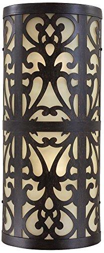 Minka Lavery 1492-357-PL Nanti Wall Sconce, 2-Light CFL 26 Total Watts, Iron Oxide