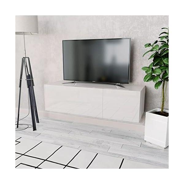 mewmewcat Meuble Téléviseur Meuble TV Suspendu Meuble Téléviseur en Aggloméré Design Moderne 120 x 40 x 34 cm (L x l x H…