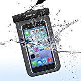 ESoulTech Waterproof Mobile Bag Case - Mobile Phone Case Waterproof Dry Bag for iPhone 4 5 6 Samsung Galaxy Huawei Motolora LG Sony Unisex Color in White Black Blue Pink Green Life Time Warranty