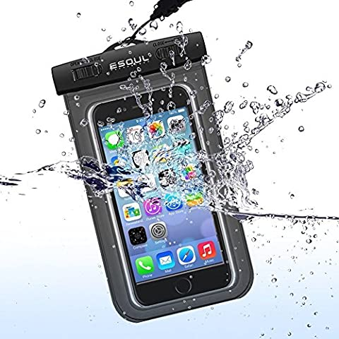 ESoulTech Waterproof Mobile Bag Case - Mobile Phone Case Waterproof Dry Bag for iPhone 4 5 6 Samsung Galaxy Huawei Motolora LG Sony Unisex Color in White Black Blue Pink Green Life Time (Sony Xperia V Screen)