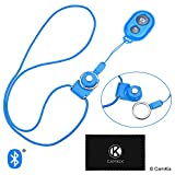 CamKix Camera Shutter Remote Control With Bluetooth® Wireless Technology - Blue - Lanyard