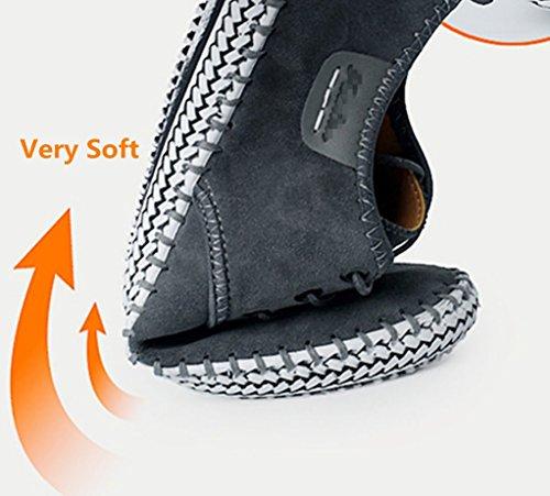 de Casuales de Zapatos Gris 48 Gran de Zapatos de Hombres los Estilo Casuales los Tamaño Hombres los Gamuza de Casuales de los Especialmente Bebete5858 Extra de los Zapatos Inglaterra Hombres Hombres AYwOYS