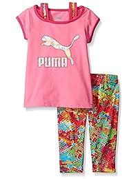 PUMA Girls Cap Sleeve Tee and Legging Set