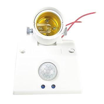 B Blesiya Interruptor automático para portalámparas con sensor de movimiento por infrarrojos E27 AC110V-240V, tipo 86 fijo: Amazon.es: Bricolaje y ...