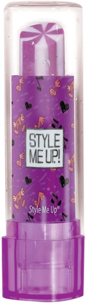 Style Me Up Lipstick Shaped Eraser Purple