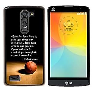 Dragon Case - FOR LG L Bello L Prime D337 - basketball Michael Jordan quote sport - Caja protectora de pl??stico duro de la cubierta Dise?¡Ào Slim Fit