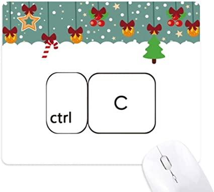 Teclado Símbolo ctrl C Mouse Pad Game Office Mat Navidad ...
