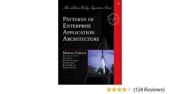 Amazon Patterns Of Enterprise Application Architecture EBook Delectable Patterns Of Enterprise Application Architecture