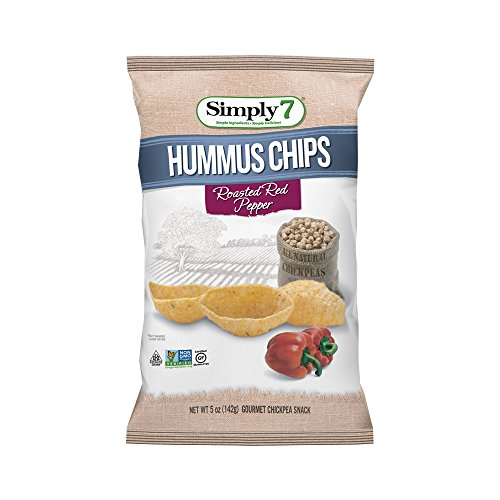 Simply7 Chickpea Hummus Chips, Roasted Red Pepper, 5 Ounce (Pack of 12)