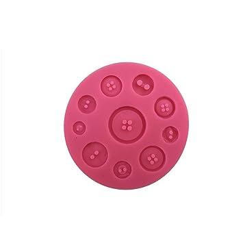 YYH Molde de silicona para fondant pastel moldes botones encantador decorar pastel horneado restaurante de bricolaje cocina hogar verde de herramientas para ...