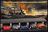 Pyramid America Justification for Higher Education Classic Supercars Funny Poster 36x24 inch