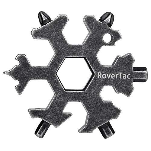 RoverTac Snowflake Multi-Tool,19 in 1 Multi Tool, EDC Stainless Steel Multitool for Bike Bicycle Outdoor Mechanic Repair Daily Tool
