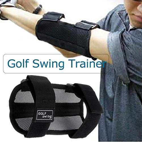 Toxz Golf Swing Training Aid Elbow Support Corrector Wrist Brace Practice Tool,Nylon Breathable Cloth and Hook and Loop Fasteners,Lightweight,Alert Alarm Device,Suitable for Beginners
