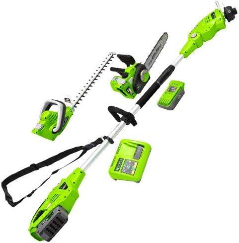 Zipper ZI-GPS40V-AKKU Set de mantenimiento de jardín con batería de 40 V, 1030x265x270