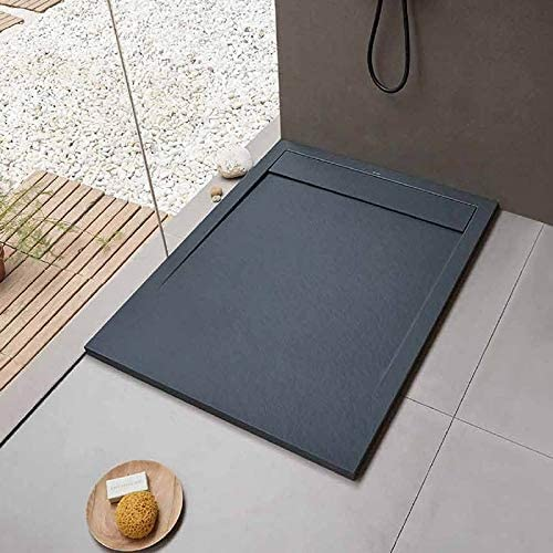 Sanycces Clever - Plato de Ducha (120 x 80 cm), Color Gris: Amazon.es: Hogar