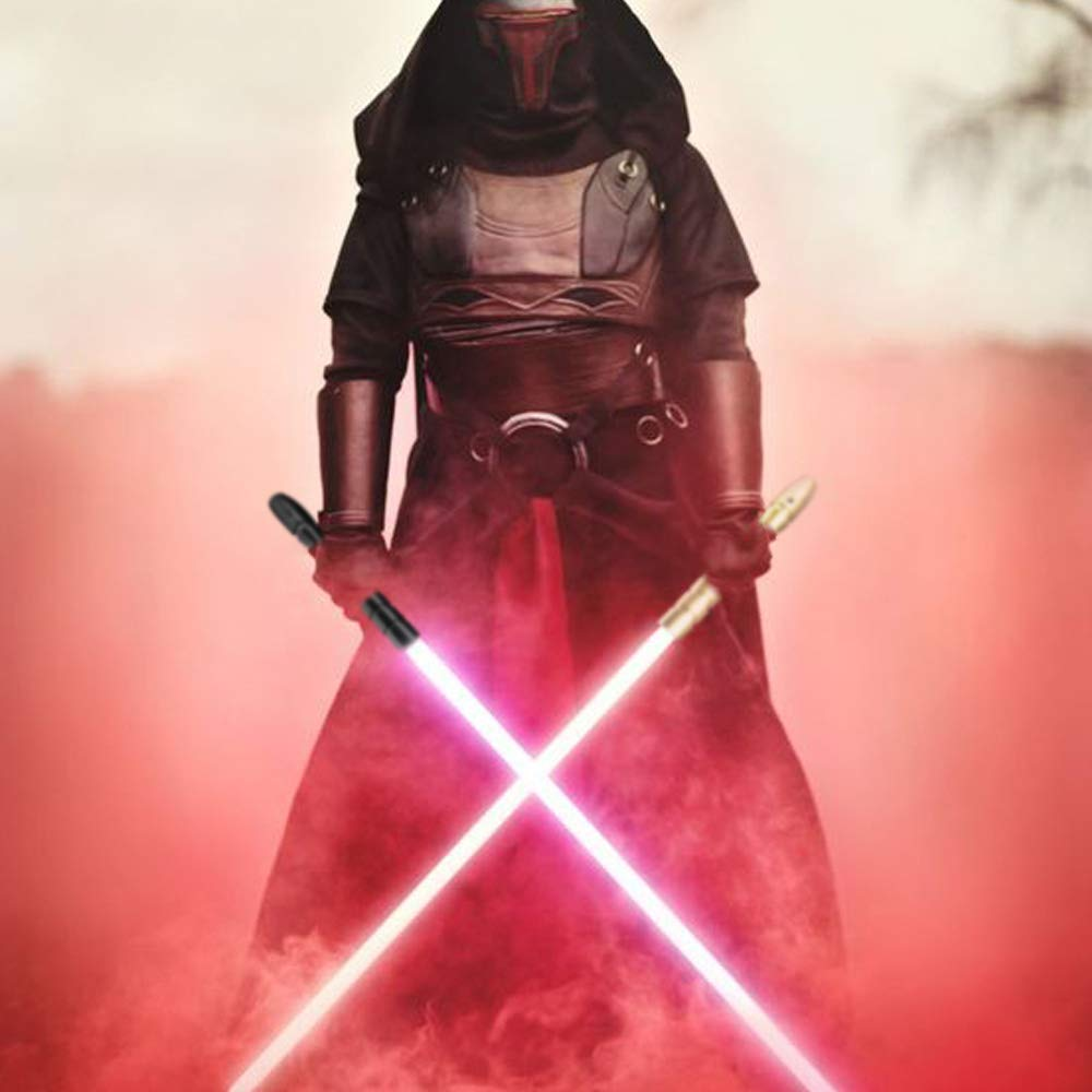 YDD Star Wars LED Light Up Saber Force FX Sword Heavy Dueling, Rechargeable Lightsaber, Loud Sound Hight Light with FOC, Metal Hilt Light Sword (Silver Hilt Blue Blade, Medium) by YDD (Image #8)