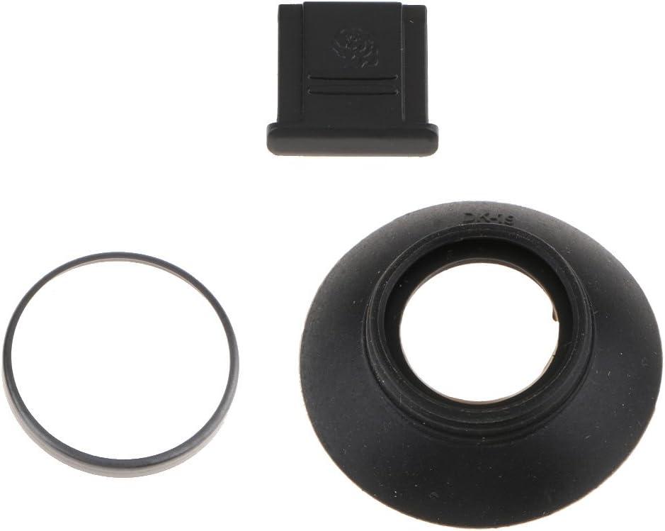 D500 Schwarz Prettyia Okular Okular mit Kamerasucher mit Hei/ßer Schuhabdeckung f/ür D850