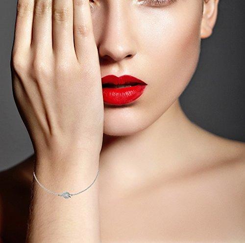 Boudici B2034D1 AZ9W/or blanc 9 carats-Diamant-Bracelet 15.5-18 cm