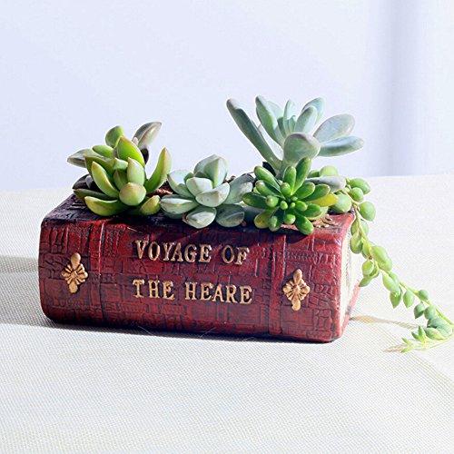Messagee Cute Bear Succulent Pots Resin Mini Flower Pot Garden Plants Pot Desk Flower Decoration (No Drainage) by...