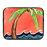 Coconut Tree Water Repellent Laptop Case Bags Printed Ultrabook Briefcase Sleeve Bags Cover For Macbook Pro/Notebook/Acer/Asus/Lenovo Dell 15 Inch