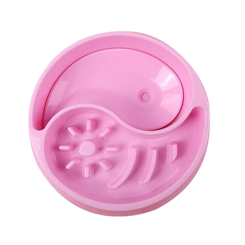 Onnear Upgrade Design Anti-Gulping Pet Bowl,Feeder and Water 2 in 1,Feeding Stations,for Medium Dogs or Cats,Interactive Bloat Stop Pet Bowl for Fast Eaters (Color : Pink) by Onnear