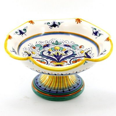 RICCO DERUTA: Scalloped Footed Fruit Bowl^ [#1326-RIC]