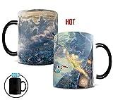 Morphing Mugs Thomas Kinkade Disney Tinker Bell and Peter Pan Fly to Neverland Heat Reveal Ceramic Coffee Mug - 11 Ounces
