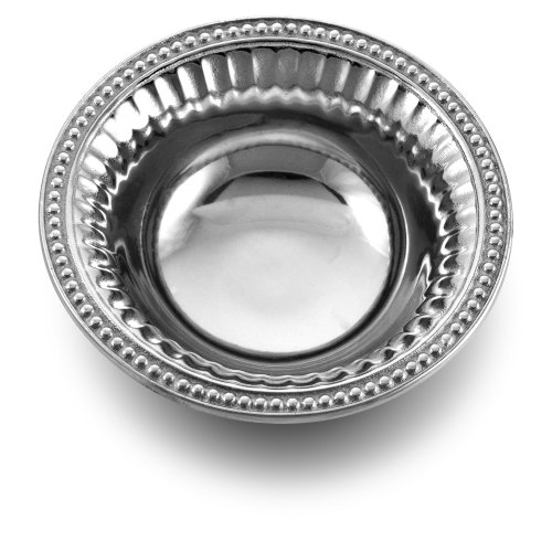 Wilton Armetale Flutes and Pearls Dipping Bowl, Round, -